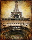 Retro estilo fondo - torre eiffel — Foto de Stock