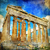 Ancient Acropolis - artistic retro styled picture — Photo