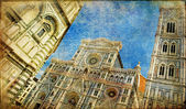 Great italian landmarks artistic series -Siena cathedral — Stock Photo