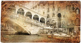 European landmarks series - vintage card- Venice — Stock Photo