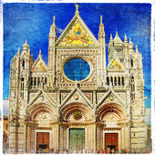 Cathedral on medieval Siena - Tuscany — Stock Photo