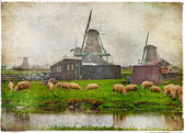 Traditionele oude holland - retro foto — Stockfoto