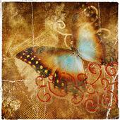 Vintage abstrait avec papillon — Photo