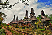 Balinese temple - artwork in retro style — Stock Photo
