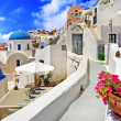 White-blue Santorini - Stock Photo
