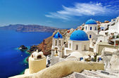 White-blue Santorini — 图库照片