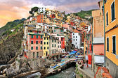Riomaggiore village, Cinque terre — Stock Photo