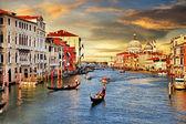 在威尼斯日落 — 图库照片