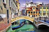 Canales venecianos pictóricas — Foto de Stock