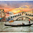 Venetian sunset, artwork in  panting style — Stock Photo