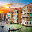 Venetian sunset - Stock Photo