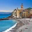Picturesque Ligurian coast. Bella Italia series - Stock Photo