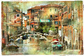 Venice, artwork in painting style — Stock Photo
