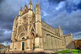 Travel in Italy series - beautiful Cathedral in Orvieto, Umbria — Stock Photo