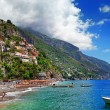 Stock Photo: Picturesque Positano coast. BellItaliseries