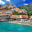 Stock Photo: Positano. colors of sunny Italy series