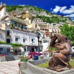 färgglada vackra positano, Italien — Stockfoto