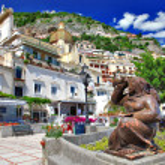 bunte wunderschöne Positano, Italien — Stockfoto