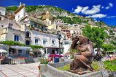Kleurrijke mooie positano, italië — Stockfoto
