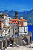 Deslumbrante costa amalfitana - atrani. itália — Foto Stock