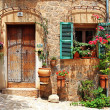 Stok fotoğraf: Old charming streets, Spain