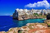 Polignano al mare, puglia, itálie — Stock fotografie