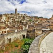 Matera - ancient cave city. — Stock Photo