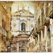 Italian old town streets- Lecce — Stock Photo
