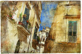 Italian old town streets- Lecce — ストック写真