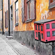 Streets of old town . Stocholm - Stock Photo