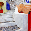 Charming small greek details. Santorini streets — Stock Photo #26765669