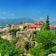 Landmarks of Greece, Meteora monasteries - Stock Photo