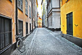 Streets of old town . Stocholm — Stock Photo