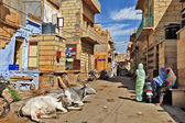 Travel in India . Jaisalmer streets — Stockfoto