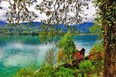 Alpine emerald lakes — Stock Photo