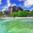 Stock Photo: Amazing Seychelles. LDigue island