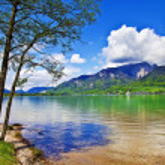 Alpine nature. lakes — Stock Photo