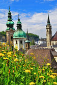 Beautiful Salzburg in spring — Stock Photo
