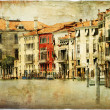 Foto Stock: Venice, artwork in painting style