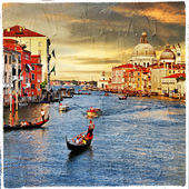 Venetian sunset, artistic picture — Stock Photo