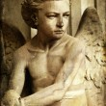 Young sad angel — Stock Photo #28062059