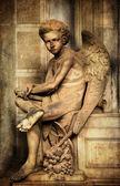 Young sad angel — Stock Photo