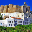 Patmos island, view with monastery — Foto de Stock