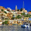 Stock Photo: Beautiful colorful Symi island, Dodecanese