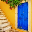 Colorful Greece series -Symi island streets — Stock Photo