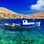 Постер, плакат: Tranquil scene of Greek islands Halki Dodecanese