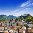 Beautiful Salzburg, view ofold town with castle — Stock Photo