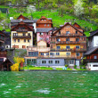 Houses on the river in Austria — Photo