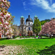 Blooming spring in Salzburg , Austria — Stock Photo