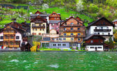Houses on the river in Austria — Stock Photo